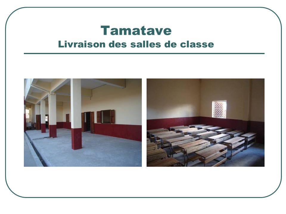 Tamatave Livraison des salles de classe