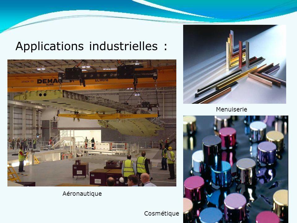 21 Applications industrielles : Aéronautique Menuiserie Cosmétique