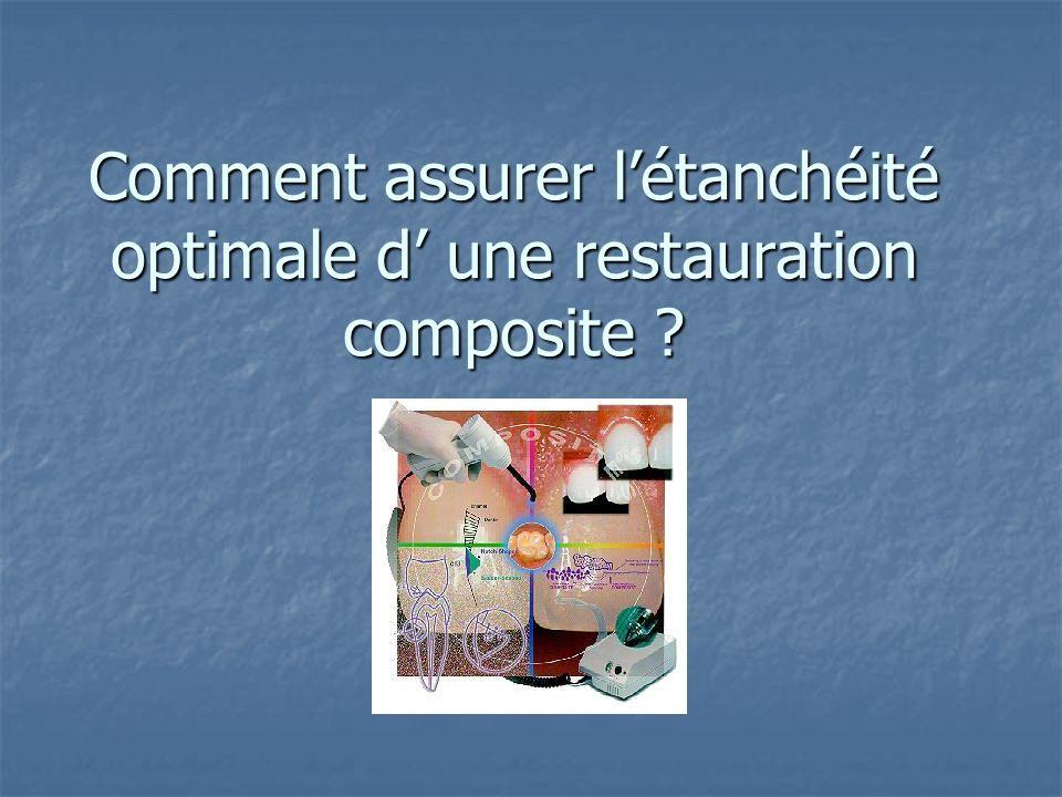 Comment assurer létanchéité optimale d une restauration composite ?