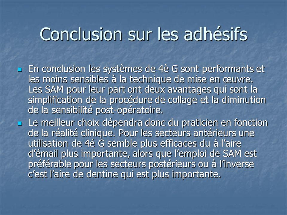 Problèmes récurrents aux adhésifs La qualité et la durabilité de linterphase dentine-adhésifs sont toutefois entravés par: La qualité et la durabilité