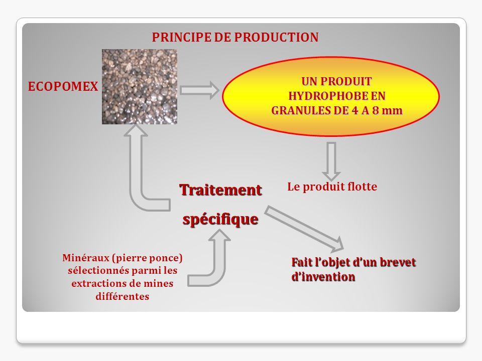 UN PRODUIT HYDROPHOBE EN GRANULES DE 4 A 8 mm Minéraux (pierre ponce) sélectionnés parmi les extractions de mines différentes Fait lobjet dun brevet d