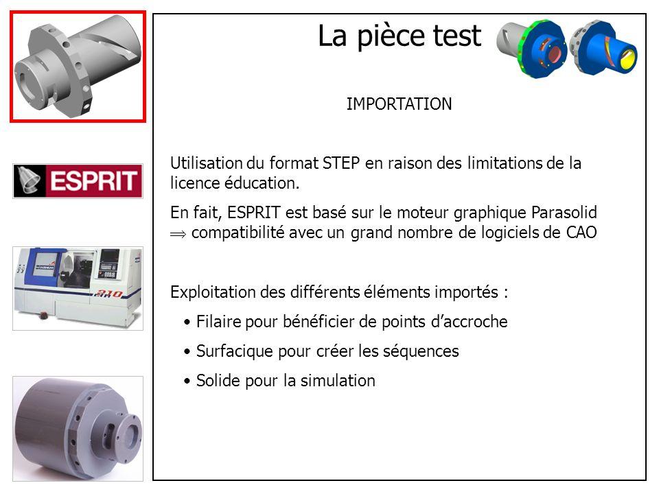 Création des opérations CONFIGURATION DE LA MACHINE Définition du brut Paramétrage de la tourelle Réglage de la broche et de laxe C