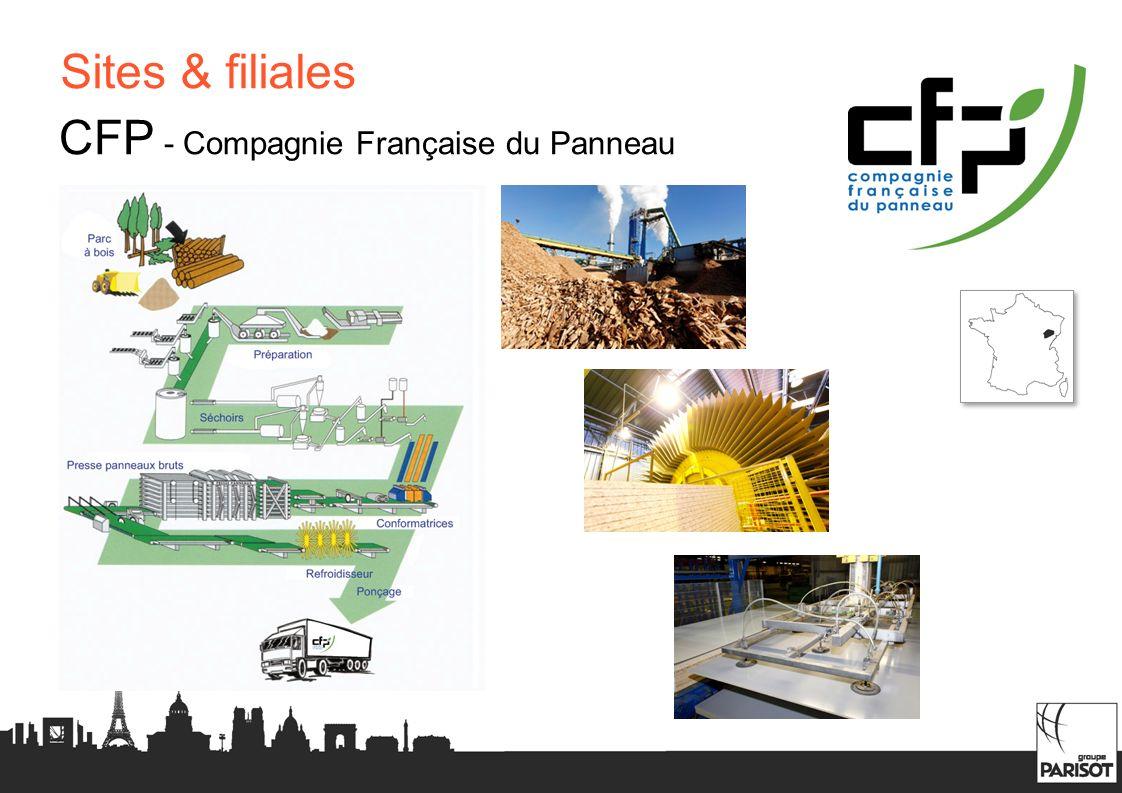 Sites & filiales CFP - Compagnie Française du Panneau