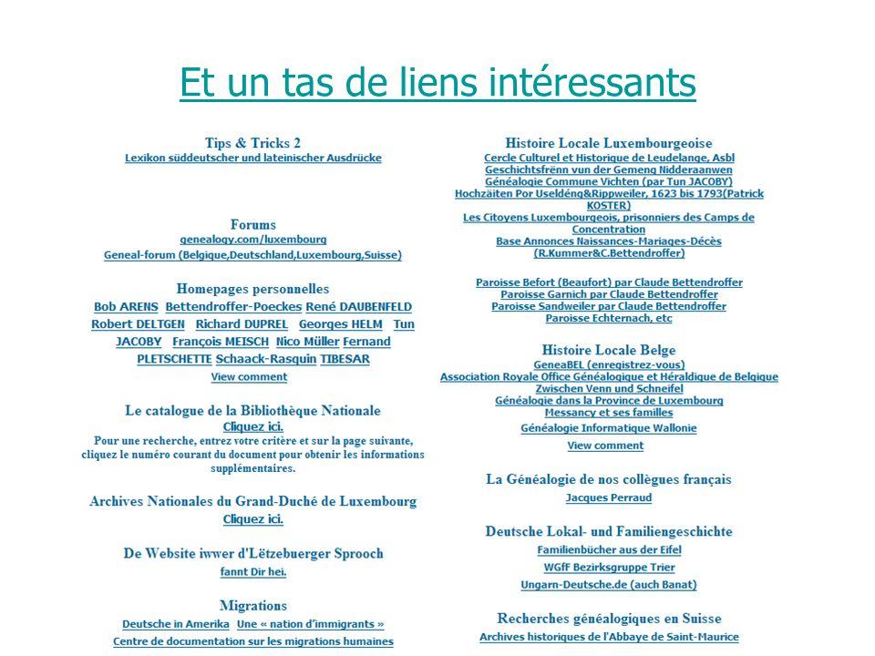 Journée Nationale de Généalogie 12/11/2006 Et un tas de liens intéressants