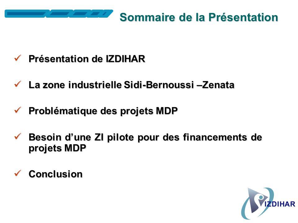 Association Izdihar Association des Opérateurs Economiques de la Zone Industrielle de Sidi Bernoussi-Zenata Atelier sur : « Analysis of Public & Priva