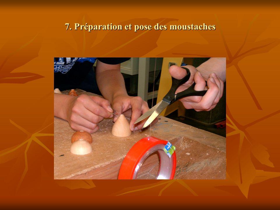 7. Préparation et pose des moustaches
