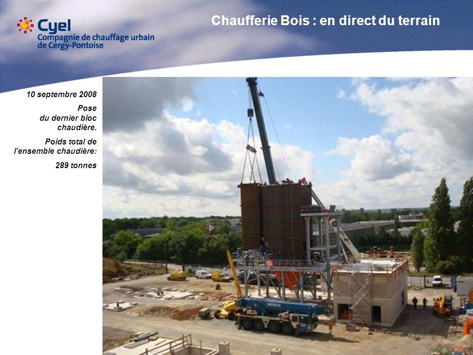 2 octobre 2008 Travaux préliminaires et montage du futur silo de stockage Biomasse.