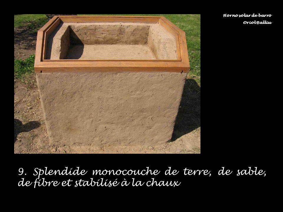 9. Splendide monocouche de terre, de sable, de fibre et stabilisé à la chaux Horno solar de barro Oriol Balliu