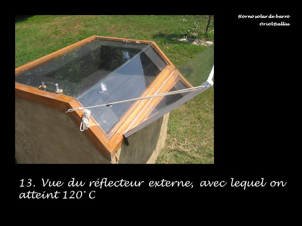 13. Vue du réflecteur externe, avec lequel on atteint 120° C Horno solar de barro Oriol Balliu