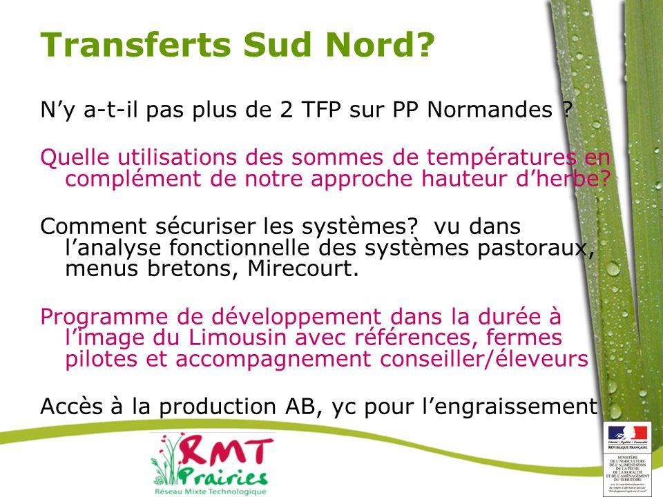 Transferts Sud Nord.Ny a-t-il pas plus de 2 TFP sur PP Normandes .
