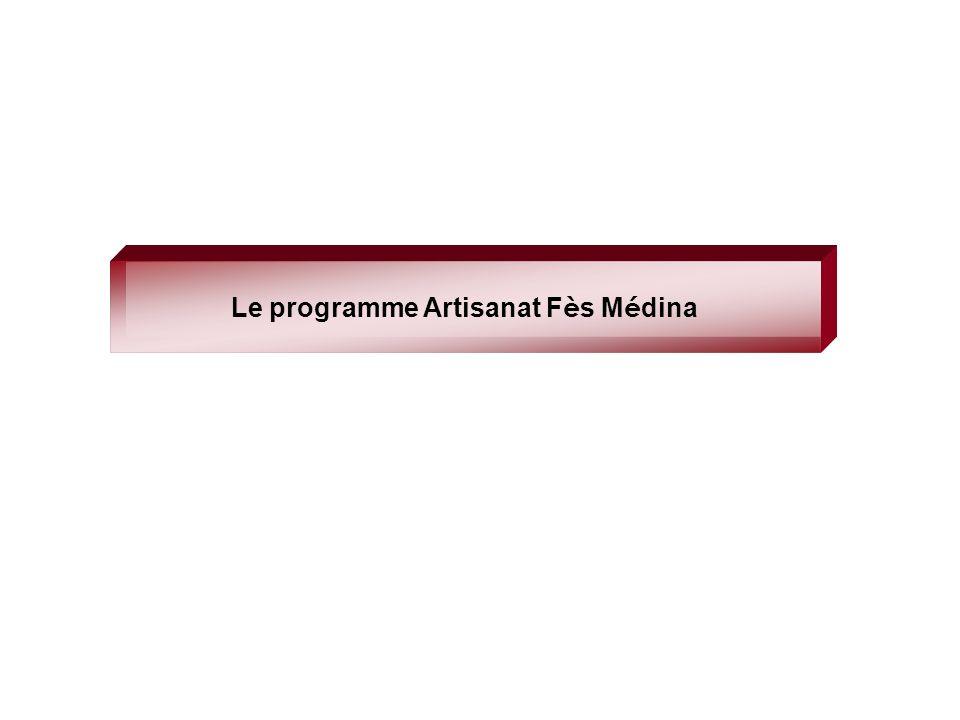 Le programme Artisanat F è s M é dina