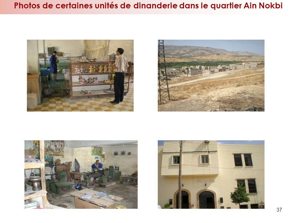 37 Photos de certaines unités de dinanderie dans le quartier Ain Nokbi