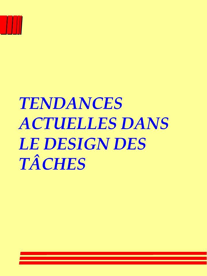TENDANCES ACTUELLES DANS LE DESIGN DES TÂCHES