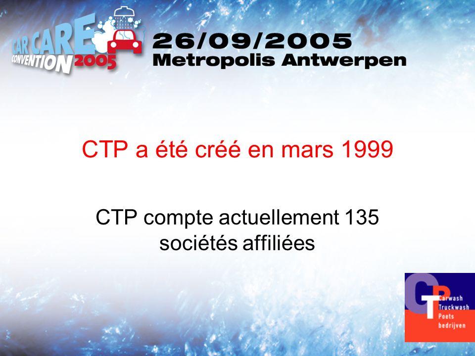 CTP a été créé en mars 1999 CTP compte actuellement 135 sociétés affiliées