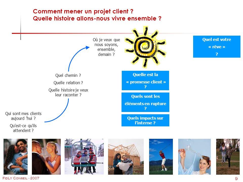 9 FidLy Conseil - 2007 Comment mener un projet client .