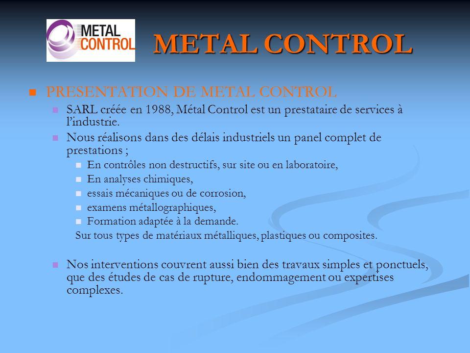 METAL CONTROL Le ressuage : Le ressuage : est effectué sur tout type de pièces et notamment celles non magnétiques.