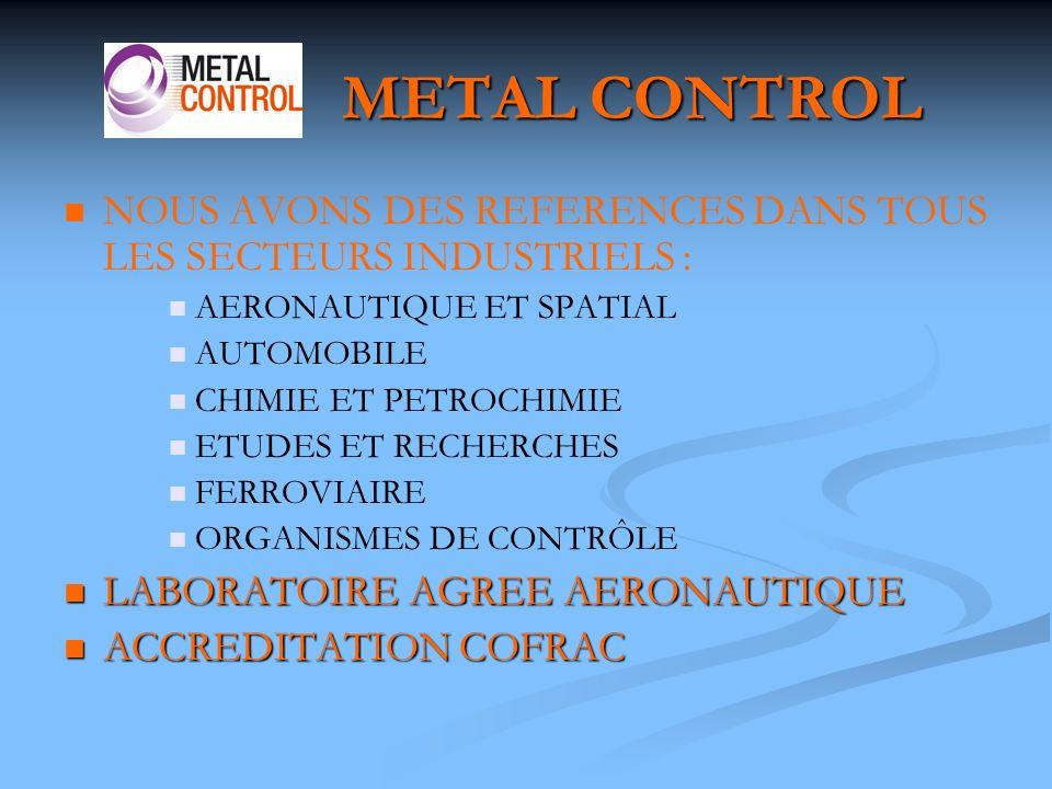 METAL CONTROL La courbe de traction peut prendre différentes formes selon le matériau, la température et la vitesse de déformation.
