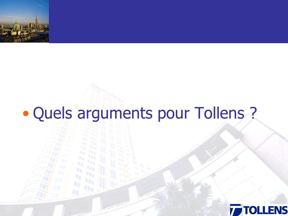 Quels arguments pour Tollens ?