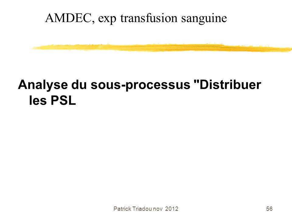 Patrick Triadou nov 201256 Analyse du sous-processus