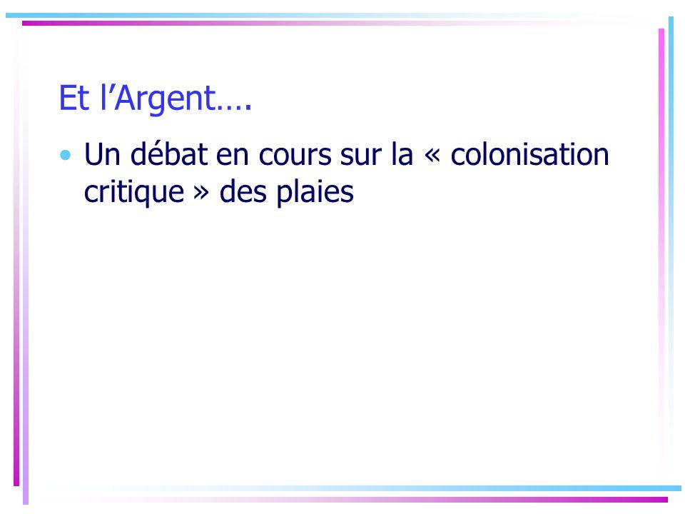 Et lArgent…. Un débat en cours sur la « colonisation critique » des plaies