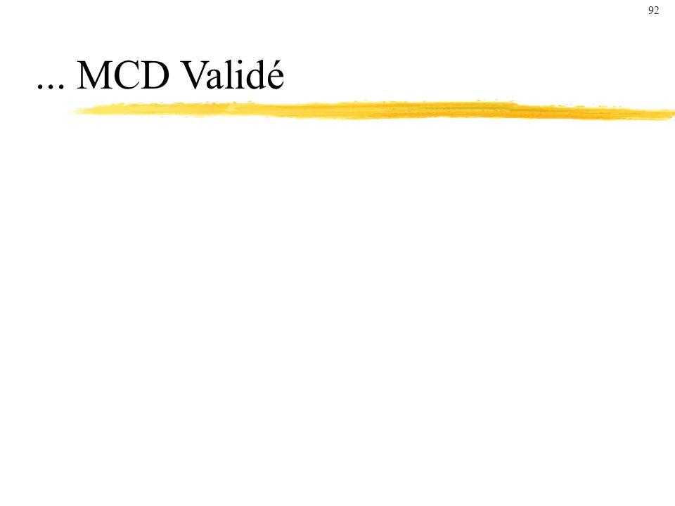 ... MCD Validé 92