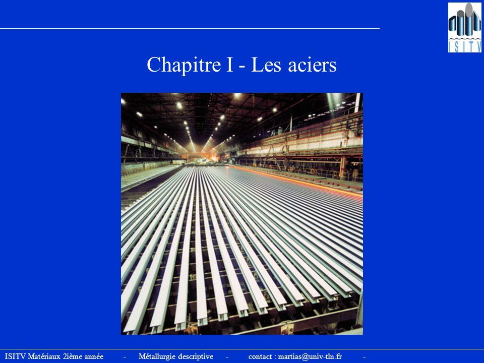 Chapitre I - Les aciers