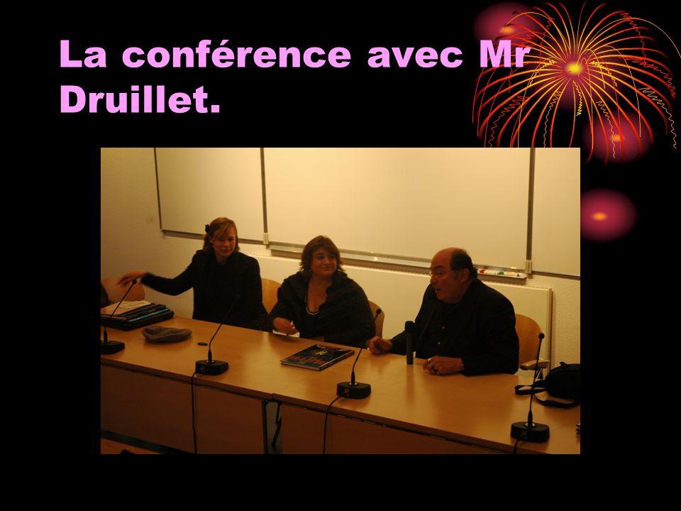 La conférence avec Mr Druillet.