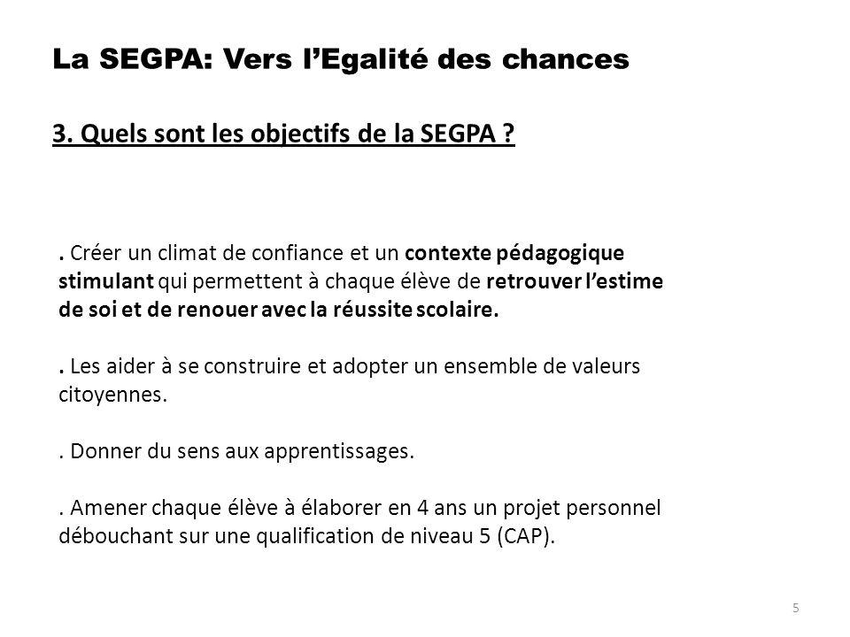 6.Quenseigne- t- on en SEGPA . c. Cest quoi le C ertificat de F ormation G énérale .
