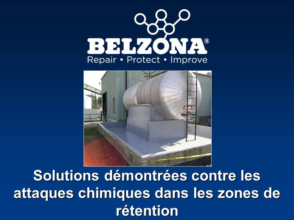 Solutions démontrées contre les attaques chimiques dans les zones de rétention