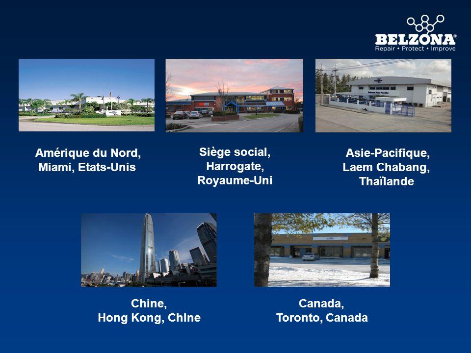 Amérique du Nord, Miami, Etats-Unis Asie-Pacifique, Laem Chabang, Thaïlande Canada, Toronto, Canada Chine, Hong Kong, Chine Siège social, Harrogate, R