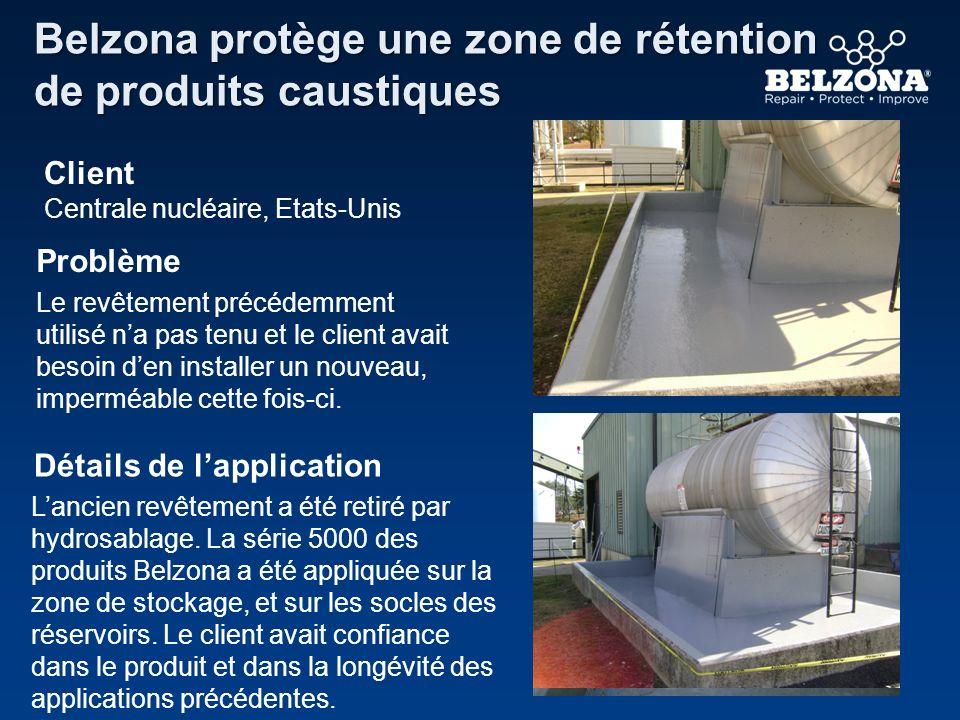 Client Problème Détails de lapplication Belzona protège une zone de rétention de produits caustiques Centrale nucléaire, Etats-Unis Le revêtement préc