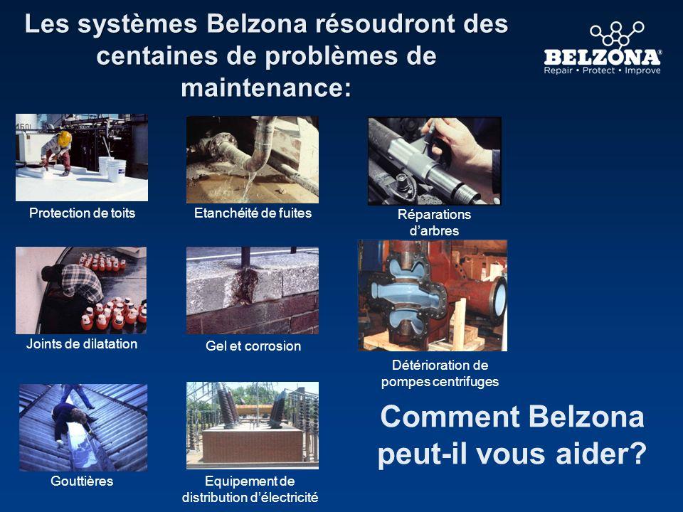Les systèmes Belzona résoudront des centaines de problèmes de maintenance: Comment Belzona peut-il vous aider? Réparations darbres Gel et corrosion Jo