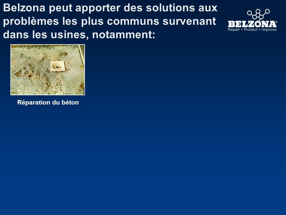 Belzona peut apporter des solutions aux problèmes les plus communs survenant dans les usines, notamment: Réparation du béton