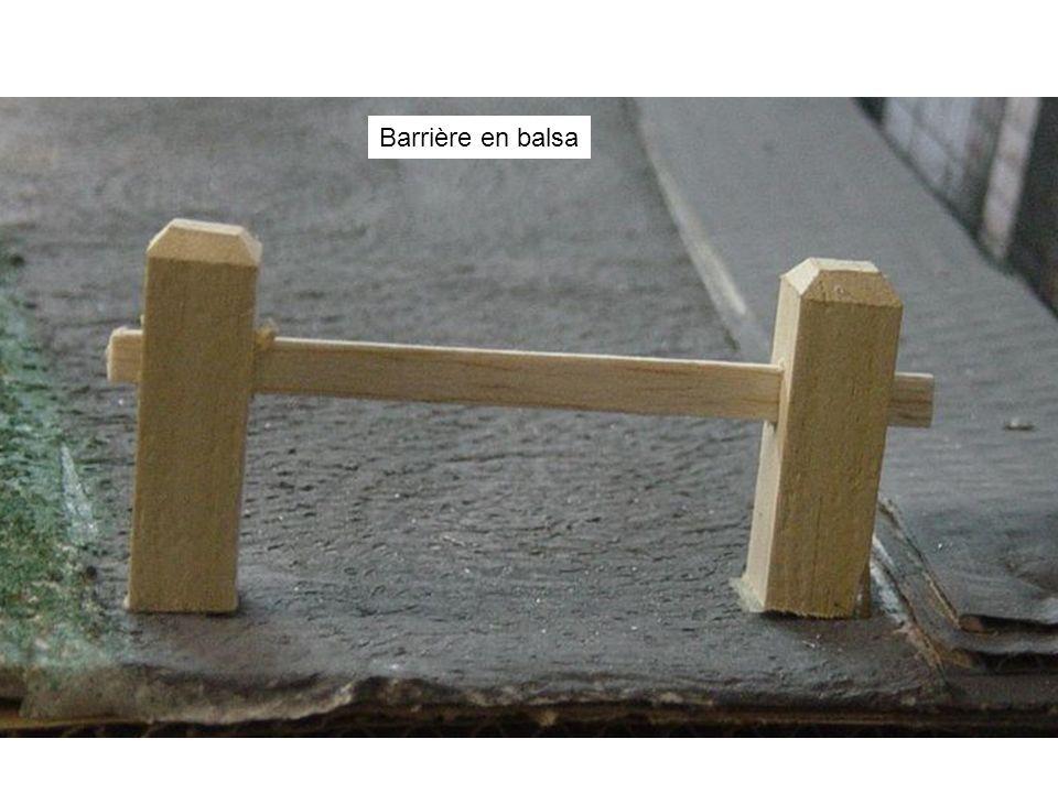 Barrière en balsa