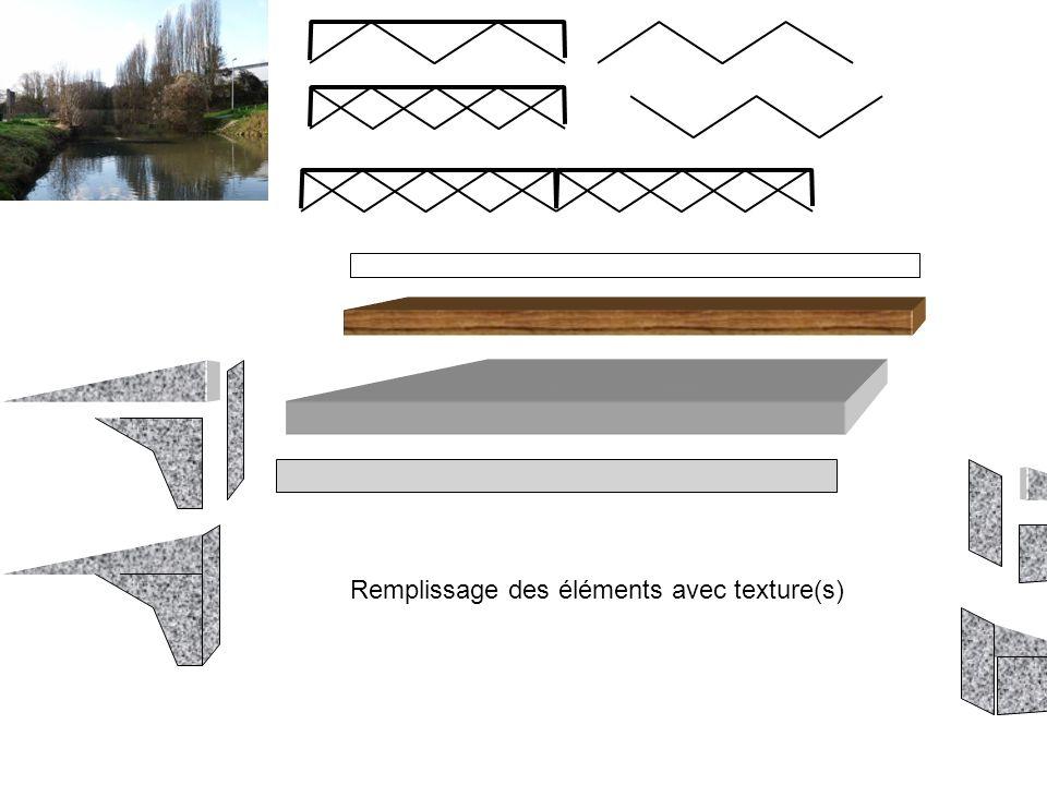 Remplissage des éléments avec texture(s)