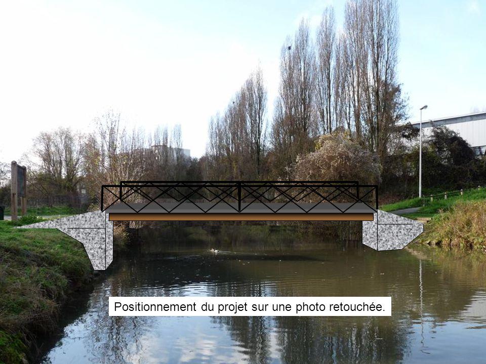 Positionnement du projet sur une photo retouchée.