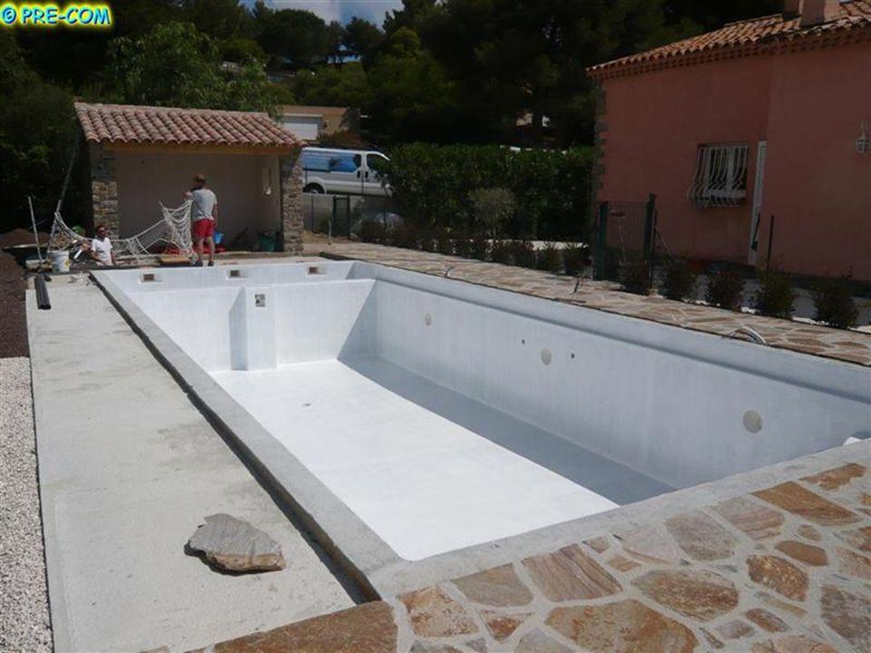Les travaux de terrasse sont suspendus pendant lapplication du gelcoat