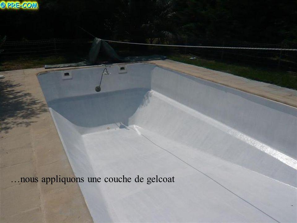 Après nos applications respectives de résine et fibres de verre…