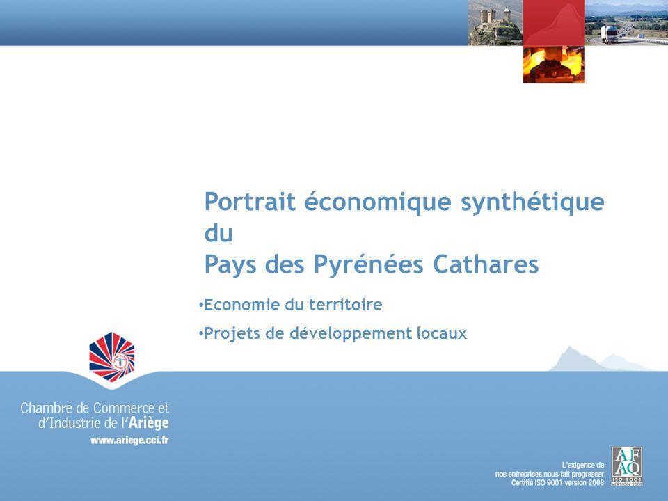 Portrait économique synthétique du Pays des Pyrénées Cathares Economie du territoire Projets de développement locaux