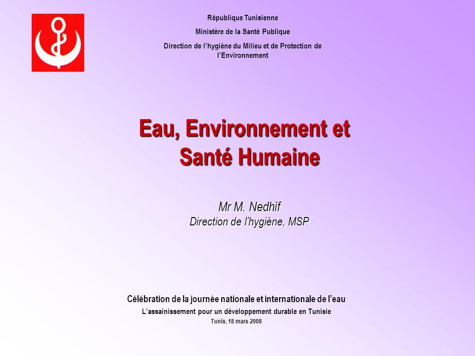 Eau, Environnement et Santé Humaine Mr M.