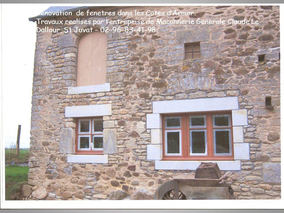 Renovation de fenetres dans les Cotes dArmor.