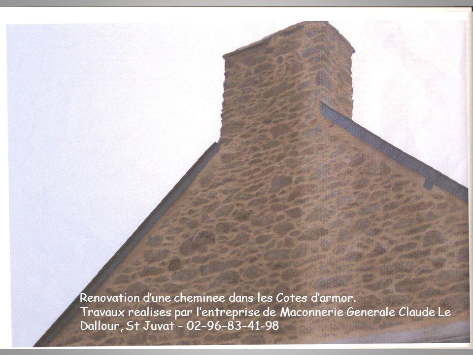 Construction dune maison en parpaing et dune cheminee en brique dans les Cotes darmor.