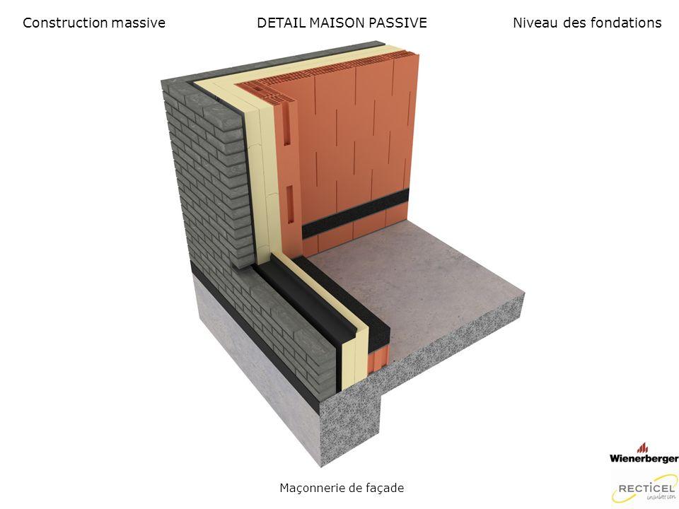 DETAIL MAISON PASSIVE Menuiserie extérieure Construction massiveNiveau des fondations