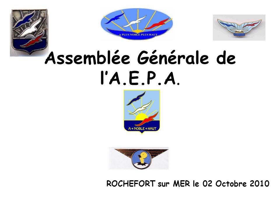 Assemblée Générale de lA.E.P.A. ROCHEFORT sur MER le 02 Octobre 2010