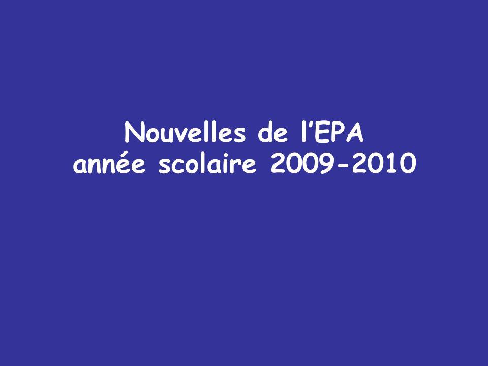 Nouvelles de lEPA année scolaire 2009-2010