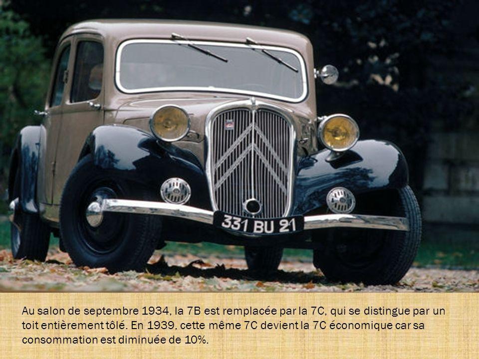 La 7S est lancée en juin 1934, pour être l'équivalent sport, c'est-à-dire hautes performances, de la 7. Elle est proposée en berline, en cabriolet et