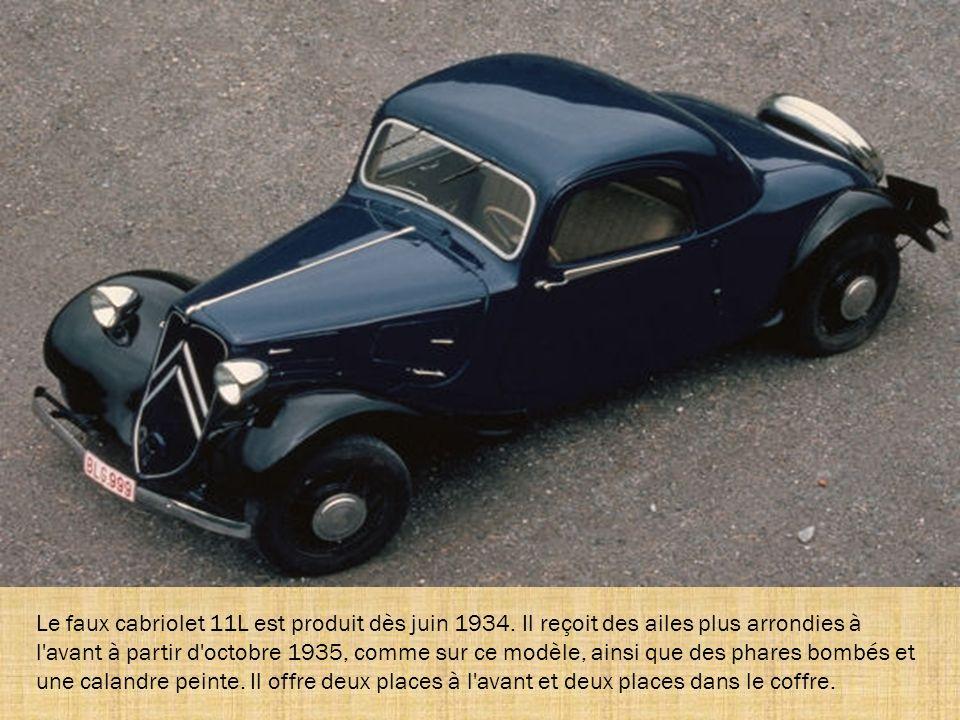La 11 succède à la 7S en 1934. Elle doit son nom au moteur 11 CV de la 7, qu'elle utilise elle aussi. Sa carrosserie est quant à elle plus large et pl