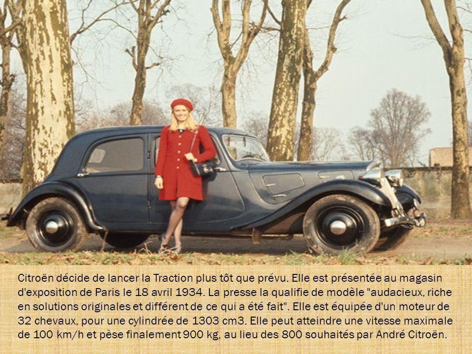 Citroën décide de lancer la Traction plus tôt que prévu.