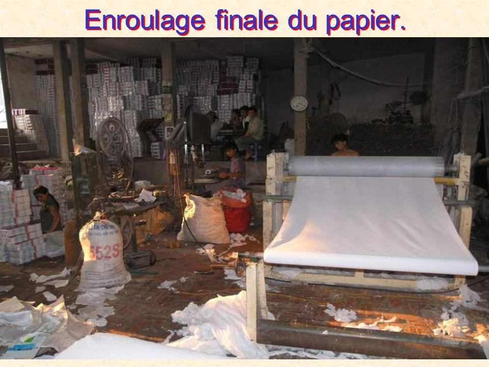 Blanchiement chimique du papier.