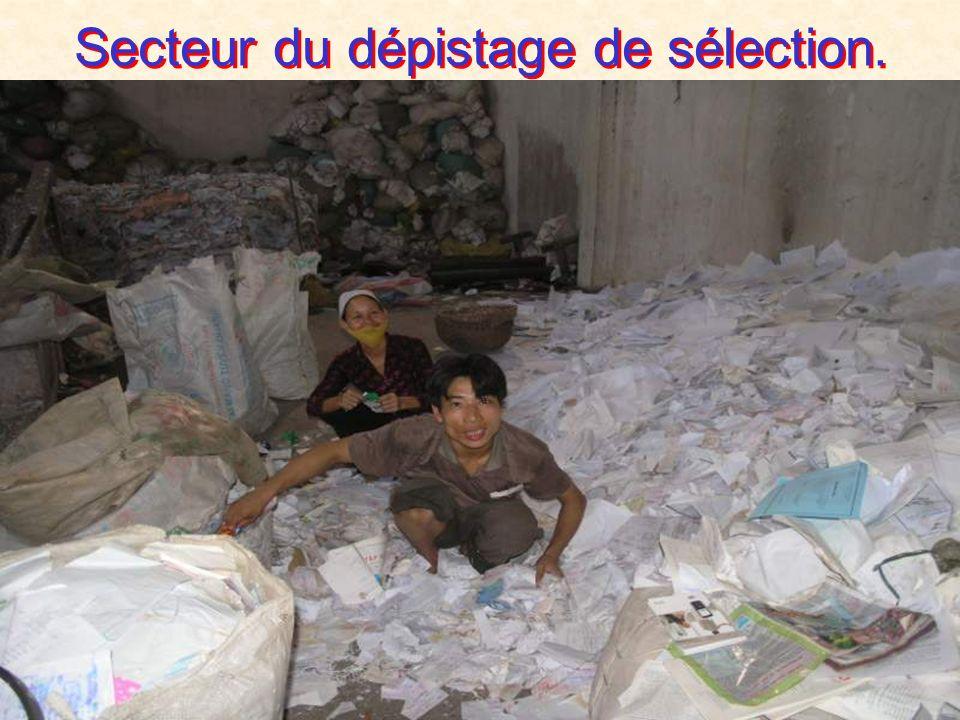 Secteur du dépistage de sélection.